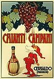 Schatzmix Chianti Campani Firenze Rotwein red Wine Alkohol Metal Sign deko Sign Garten Blech