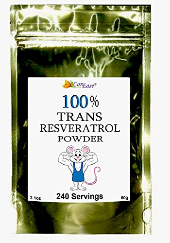 Preisvergleich Produktbild CurEase 99.5% Pure Trans Resveratrol Powder 250mg 240 Servings by CurEase