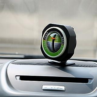 itimo Auto Slope Meter Level Auto Fahrzeug deklinograph Farbverlauf Hochpräzise eingebaute LED-Beleuchtung Neigungsmesser Winkel Auto Ornament