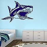 Hai Kiefer Fisch Tier Wandaufkleber Badezimmer Design Vinyl Transfer Schablone Hai Muster Wandaufkleber dekorative Kunst 55x84cm