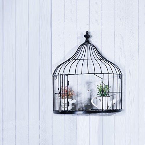 CSQ Estante del Birdcage, Arte de Hierro Colgante de Pared Birdcage Vintage Old Gua Bi Soporte de Flores Estante Decorativo Jaula de Almacenamiento Rack 30-40 CM Decoración