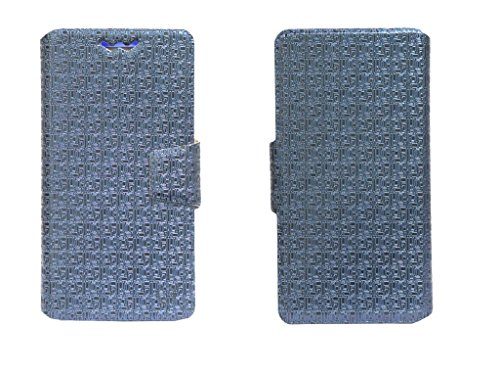 J Cover Aafreen Series Leather Pouch Flip Case With Silicon Holder For Philips S398 Blue  available at amazon for Rs.490
