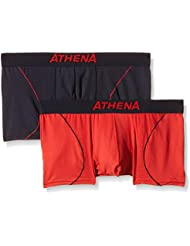 Athena Free Motion - Boxer - Multicolore - Lot de 2 - Homme