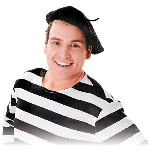 Bristol Novelties Baskenmütze, schwarz