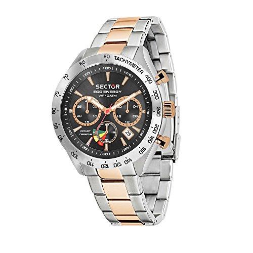 SECTOR NO LIMITS Orologio Cronografo Solare Uomo con Cinturino in Acciaio Inox R3273613001