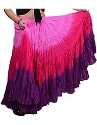 3Color 25Yarda yardas Tribal Gitana algodón danza del vientre Danza Falda ATS 012