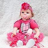 Hongge Reborn Baby Doll,Lebensgroße Wiedergeburt Puppe Puppe Spielzeug Geschenk