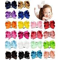 Lazos cuerda anillo diademas bandas diademas accesorios para el cabello para bebé niñas niños niños niños mujeres y adolescentes Pack de 20 (20 colores)