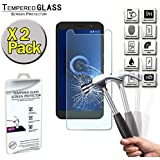 FINDING CASE [2 Pack ] Screen Protector For Alcatel 1,Tempered Glass Film Cover,0.33mm HD 9H Hardness 2.5D (Easy Installation Frame)
