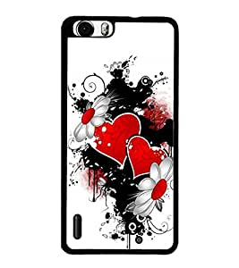 PrintDhaba Love D-1215 Back Case Cover for HUAWEI HONOR 6 (Multi-Coloured)