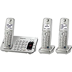 Panasonic KX-TGE273S Link2Cell Bluetooth Enabled Phone with Answering Machine & 3 Cordless Handsets by Panasonic