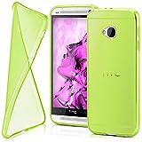 moex HTC One M7   Hülle Silikon Transparent Grün Clear Back-Cover TPU Schutzhülle Dünn Handyhülle für HTC One M7 Case Ultra-Slim Silikonhülle Rückseite