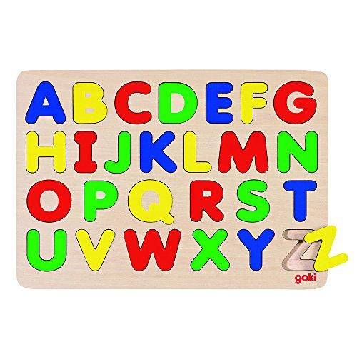 Goki GK601 - Alphabetpuzzle mit Buchstaben