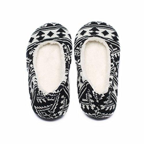 Ofoot, Pantofole Da Donna Nere