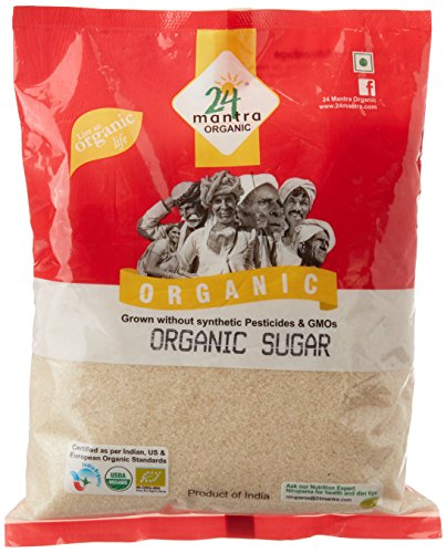 24 Mantra Organic Sugar, 1kg  available at amazon for Rs.108
