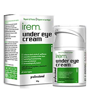 Irem Under Eye Cream - Reduces the appearance of Dark circles, Puffy eyes, Wrinkles, Fine lines and Evens out skin tone - 50g