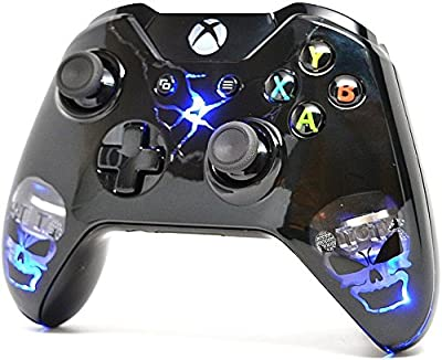 Skulls Black Illuminating Xbox One Custom UN-MODDED Controller Exclusive Design