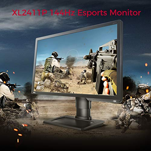 10. BenQ Zowie XL2411P 24-inch (60.96 cm) 144Hz FHD (1080p) Gaming Monitor for Esports - M353299
