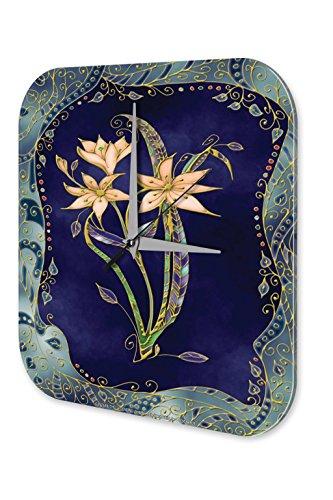 "Wall Clock Flora Floral Decoration Marke Big Cat Lion Mosaic printed acryl plexiglass 10x10"""