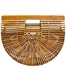 Best Handbag Designers - Synker Womens Top Handle Bamboo Handbag Handmade Summer Review