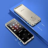 Dansrue 8GB Portable Lossless Digital Audio Player with FM Radio/Voice Recorder, Metal Shell Touch Screen, HD Sound Quality Earphones(Support up to 128GB)