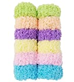 #10: Evogirl Large Thick Rubberbands CottonThread, ExtraSoft Bun,Ponytail Holders Multicolored Pair Pack of 12 Scrunchies
