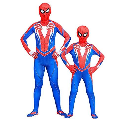 WLDSH Spiderman Hero Spiel Cosplay Strumpfhosen Halloween Kostüm Superman Film Anime Party Dress Up Eltern-Kind-Geschenk (größe : 130)