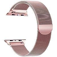 Für Apple Watch Armband 42mm(44mm Series 4), VIKATech Milanese Schlaufe Edelstahl Smart Watch Armbänder mit einzigartiger Magnetverriegelung ohne Schnalle für Apple Watch Armband 42mm 44mm Series 4/3/2/1, Rose Gold