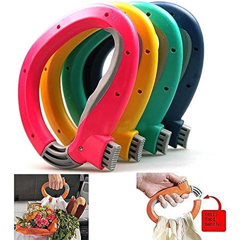Bargain World Compras agarre bolsa de la compra bolsa de ahorro de trabajo mango porta equipaje máquina de