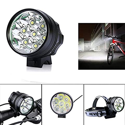 Bicycle Light, TopTen 7x T6 LED 7000 Lumens 3 Modes Ultra Bright Bike LED Headlamp Head Flashlight for Camping Hunting Hiking and Outdoors