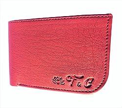 Handmade Top Grain Leather Bi Fold Wallet for Men (Tan Curve)