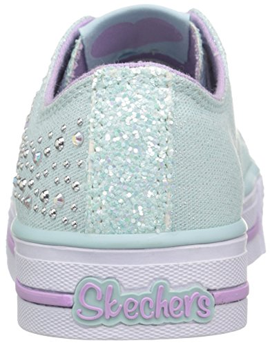 Twinkle Toes By Skechers S Lights-Shuffles-Sparkle Wishes Turnschuhe Light Blue/Lavendar