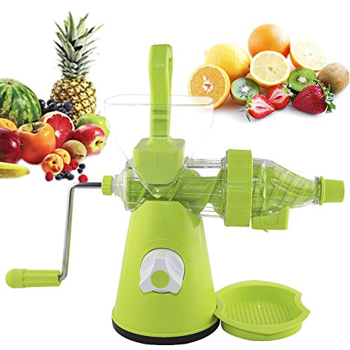 Magikware Fruit Vegetable Manual Hand Juicer with Waste & Juice Collecter, Blue