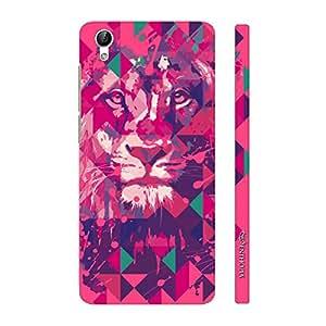 Enthopia Designer Hardshell Case Lion Art Pink Back Cover for Vivo Y51L