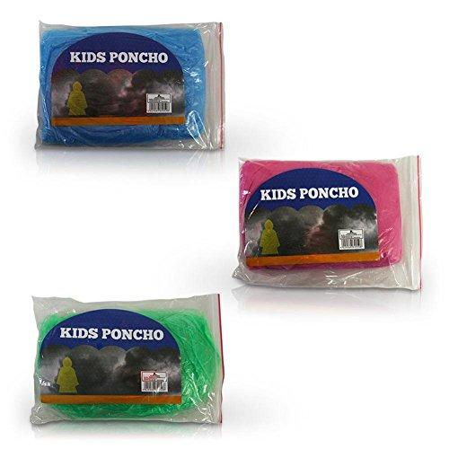 6 x HC-Handel 913954 Kinder Regenponcho Cape Einheitsgröße sortiert