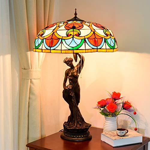 Nuofake Lampada da tavolo retrò repubblicana di lusso in stile europeo Decorazione di illuminazione in stile Tiffany Grande decorazione artistica Lampada da tavolo Bar dell'hotel Verrà installato Ingr