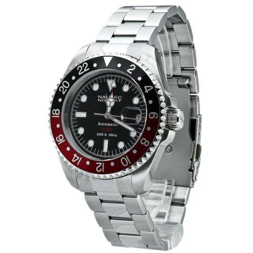 Nautec No Limit - DS GMT/STRDBK2 - Montre Homme - Automatique - Analogique - Bracelet Acier Inoxydable Argent