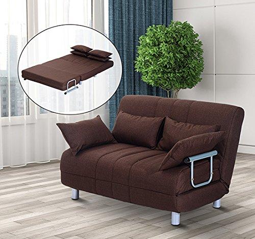 Homcom divano letto matrimoniale in acciaio e tessuto di - Cuscini divano on line ...