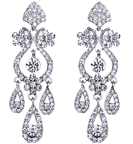cristales de Swarovski del diseñador deslumbrante oro de 18 quilates chapado gota regalo de calidad de los pendientes para las mujeres