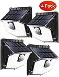 Mpow Solarleuchte mit Bewegungsmelder【2019 Neue Version】Solarlampen für Außen, 270 °Weitwinkel,120°Bewegungsmelder,Solarlicht IP65 wasserdicht,Led solar für Garage,Hoftür,Einfahrt,Treppen - 4 Stück
