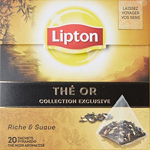 Lipton Thé Or 20 Sachets 36g - Lot de 3