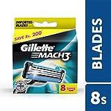 Gillette Mach 3 Manual Shaving Razor Blades - 8s Pack (Cartridge)