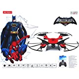 Wembley Toys Pro Quad Drone With 2.4 Ghz Remote Control With Blade Guard And Headless Mode - 1KEY Return 1 Key Stunt(Rotate,Flipflop) 3 Speed With LED (Spiderman)