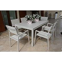 Amazon Offerte Tavoli Da Giardino.Amazon It Tavolo Con Sedie In Alluminio