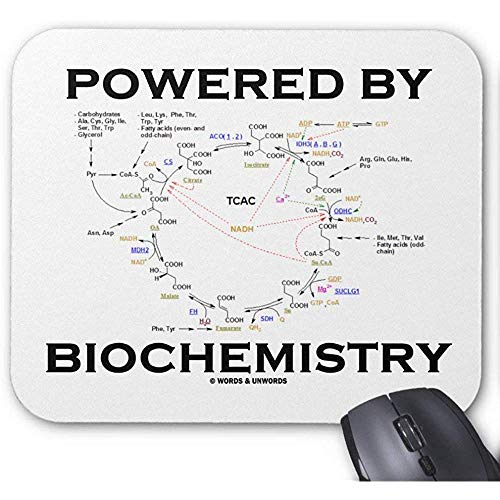 Mouse Pad Angetrieben Durch Biochemie (Krebs Zyklus) Mauspad 25X30Cm