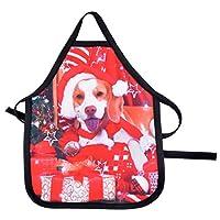 Souarts Tablier Noël Deguisement Humour Créatif Motif Chien Décoration Fête Cuisson Barbecue Christmas 24.3cmx15cm 1PC