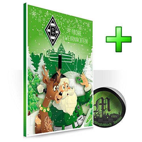 Preisvergleich Produktbild Borussia Mönchengladbach Gladbach Adventskalender Kalender plus Sticker forever Mönchengladbach