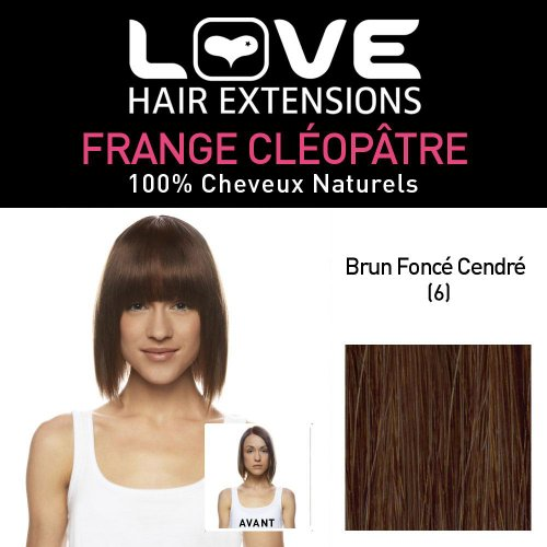 Love hair extensions capelli umani cleopatra fringe, colore 18/22 – biondo cenere/beach blonde