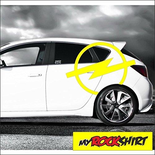 """Aufkleber Kit """" 1 x Opel Logo 60 cm"""", Aufkleber mit Montage Set inkl. """"Estrellina-Montage-Rakel®"""" & """"Estrellina-Glücksaufkleber®"""", Versand am nächsten Werktag aus Deutschland , Aufkleber für höchste Ansprüche Blitz"""
