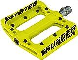 Thunder 183-Pédales Ultra Light-VTT/BMX, jaune fluo